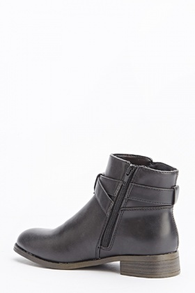 Black Ankle Clip Side Boots