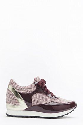 Maroon Hidden Wedge Trainers