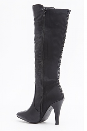 Studded Back Heeled Boots