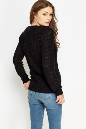 Cable Knit Trim Jumper