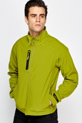 Dark Lime Basic Jacket