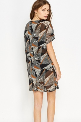Geo Sheer Kaftan Dress
