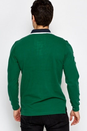 Long Sleeve Button T-Shirt
