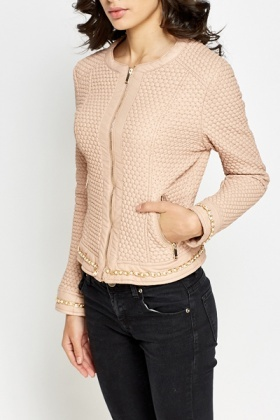 Pearl Trim Quilted Jacket