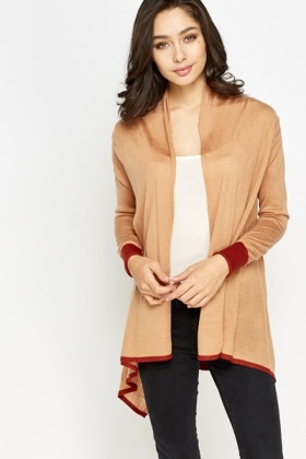 Two Tone Waterfall Cardigan