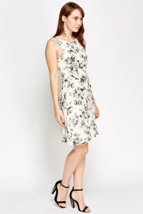 Floral Shift Tie Up Dress