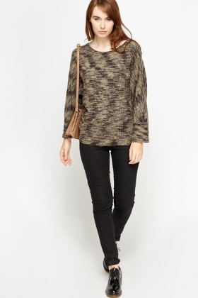 Speckled Eyelash Knit Batwing Top