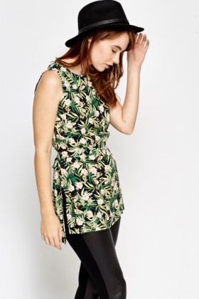 Wild Floral Sleeveless Top