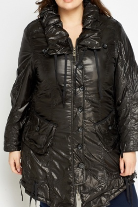 Black A-Line Winter Jacket
