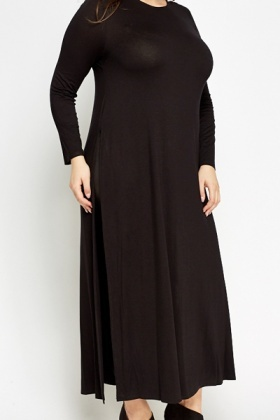 Black Long Line Top