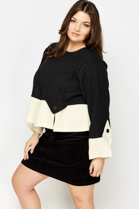 Monochrome Split Hem Jumper