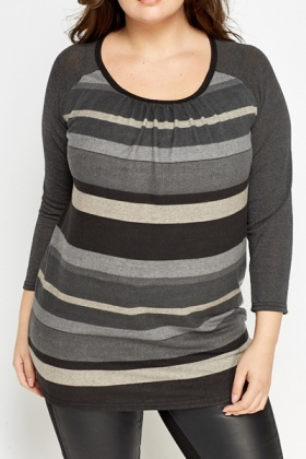 Scoop Neck Striped Top