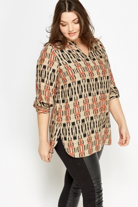 Tribal Print Blouse