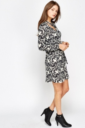 Mono Ornate Swing Dress