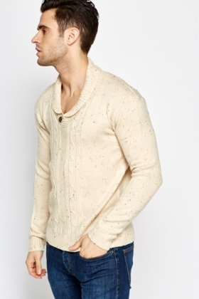 Speckled Button Front Jumper