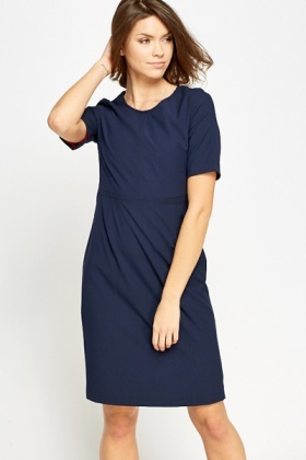 Cotton Blend Short Sleeve Dress
