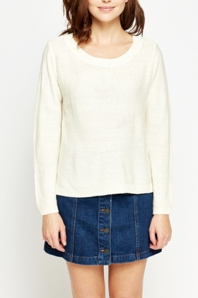 Fine Knit Round Neck Jumper