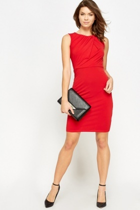 Red Party Bodycon Dress