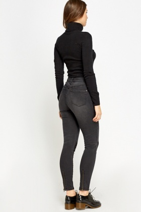 Charcoal Contrast Jeans