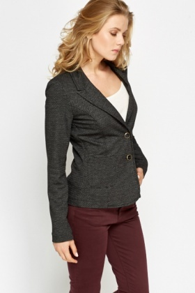 Dotted Black Blazer