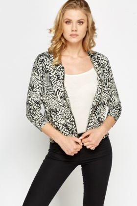 Mono Floral Bomber Jacket