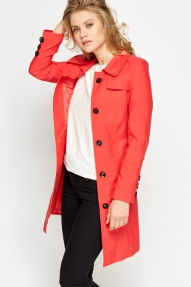 Peplum Red Coat