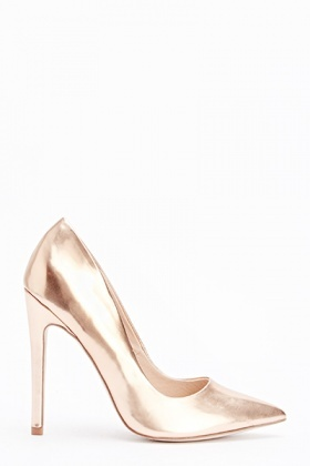 Metallic Court High Heels