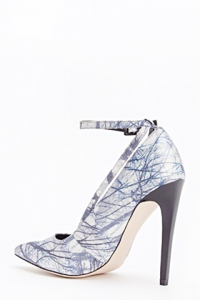 Printed Strapped High Heels