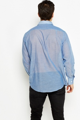 Blue Sheer Cotton Shirt