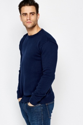 Cotton Ribbed Jumper