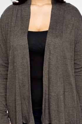 Dark Grey Asymmetric Cardigan