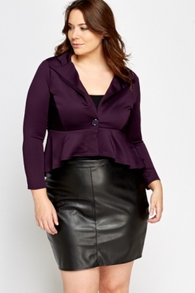 Frilled Hem Cropped Jacket