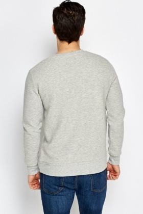 Printed Front Grey Jumper