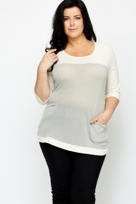 Two Tone Casual Top