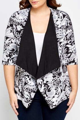 Wild Floral Waterfall Cardigan