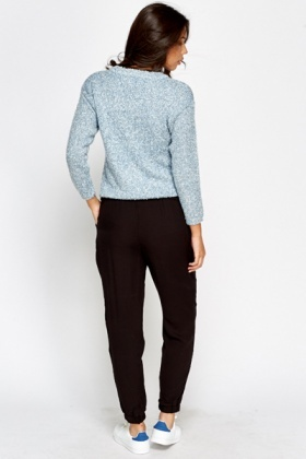 Black Casual Lounge Trousers