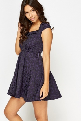 Purple Poka Dot Skater Dress