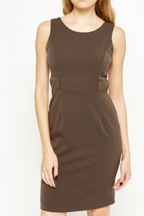 Zip Back Sleeveless Shift Dress