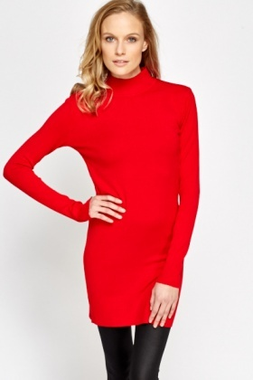 High Neck Bodycon Jumper Dress