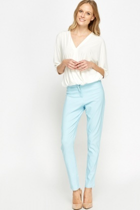 High Waisted Tapered Trousers