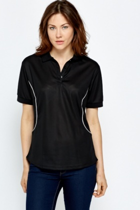 Perforated Polo Shirt