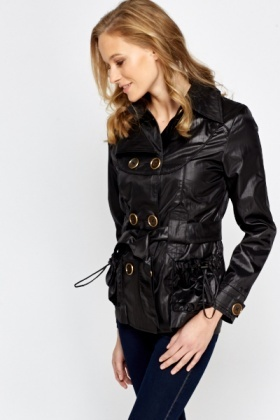 Shimmer Short Trench Coat