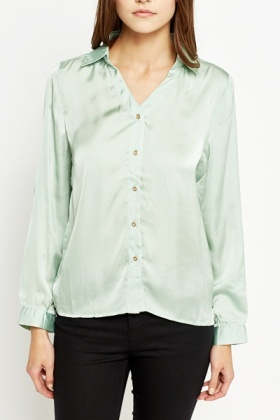 Silky Mint Blouse