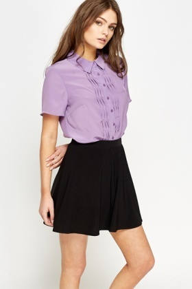 Lilac Ruffle Front Blouse