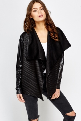 Quilted Panel Contrast Jacket