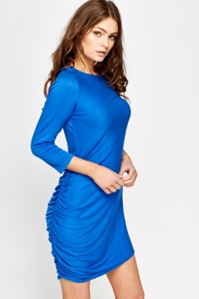 Ruched Side Bodycon Dress