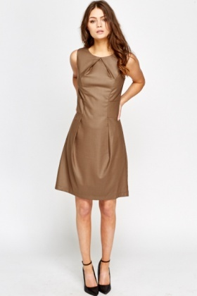 Shimmer Pleated Midi Dress