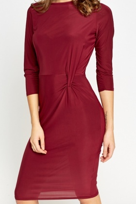 Burgundy Silky Knot Side Dress