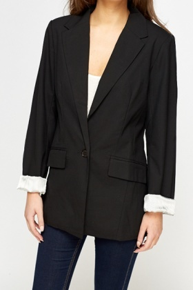 Fitted Blazer Jacket