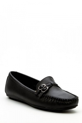 Twin Buckle Front Loafers